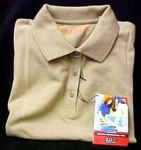 511 Tactical Series Polo Shirt L Women's Ladies Tan Pique Knit Short Sleeve New - $24.47