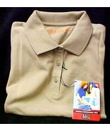 511 Tactical Series Polo Shirt L Women's Ladies Tan Pique Knit Short Sle... - $24.22