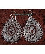 Sterling Silver Ornate Filigree Dangle Earrings SE-191-DG - $29.50