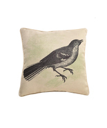 Lava Home Indoor Outdoor Decorative Bird Etching 18x18 Inch Throw Pillow - £26.37 GBP