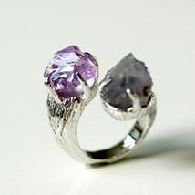 Amethyst,Iorite,Stone ring,Ring,Adjustable Ring... - $79.00