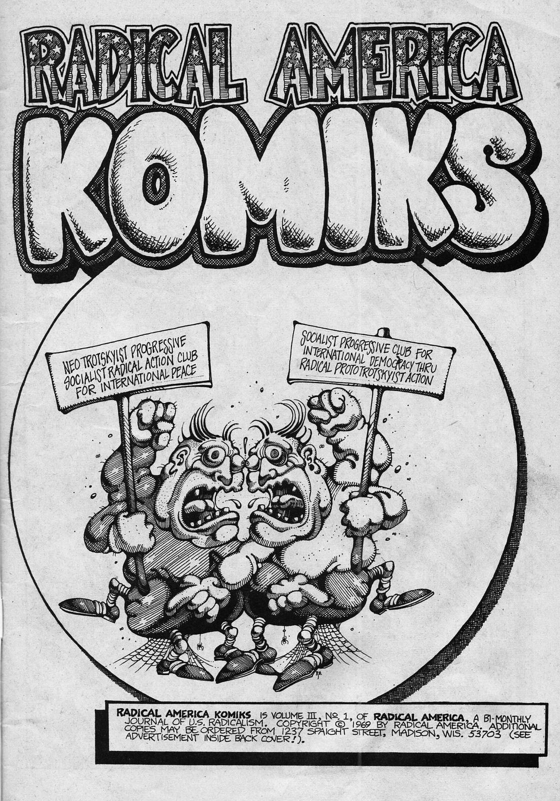 Radical America Komics 1969 classic Underground comix, 1st printing, SDS