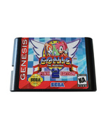 genesis sega game cartridge with sonic the hedgehog 2 pink edtion - $25.99