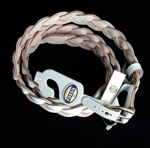 New Fossil Womens White Skinny Braided  Leather Belt Sizes S M L MSRP $38 - £12.40 GBP
