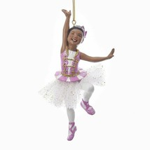 """KURT ADLER 5"""" RESIN AFRICAN AMERICAN BALLERINA GIRL BALLET CHRISTMAS ORN... - $10.88"""
