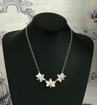Phalaenopsis Phal Moth Orchid Flowers 925 Sterling Silver Necklace & Cha... - $292.05