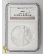 1994 Silber 1 oz American Eagle $1 NGC Graded MS69 - $123.74