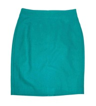 NEW J. Crew Pencil SKirt in Double Serge Wool 0 Teal Green NWT - $26.99