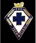 EKG Technician Lapel Pin Blue Cross Lamp Knowledge Medical Emblem 102 New - $16.46