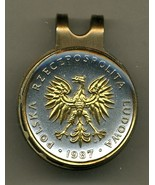 "Polish 5 zlotych ""Eagle"" 2-Toned Gold on Silver Coin Golf Marker - $62.00"
