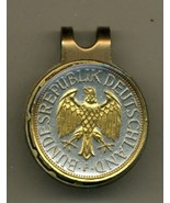 "German 1 mark ""Eagle"" 2-Toned Gold on Silver coin golf marker - $67.00"