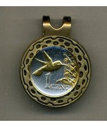 "Trinidad & Tobago 1 cent ""Hummingbird"" Gold on Silver Coin Golf Marker - $67.00"