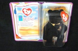 McDonalds TY The End the Bear Gold Bow Wording Firework Collectibles - $9.77