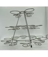 3-Tier 21 Silver Swirled Wire Cupcake/Dessert Stand - $10.84