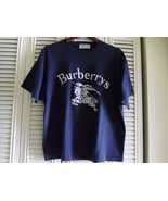 BURBERRYS OF LONDON NAVY COTTON SHORT-SLEEVE TOP - SIZE L - $79.99