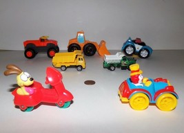 Fisher Price Little People Police Car, Tractor and Dump Trucks Lot of 6 Toys - $9.89