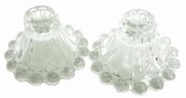 Vintage Set of 2 Boopie Crystal Glass Ribbed Im... - $29.67