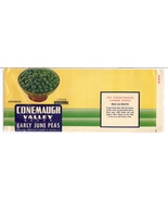 Conemaugh Valley June Peas Vintage Vegetable Can Label  Meyersdale PA ov... - $4.99