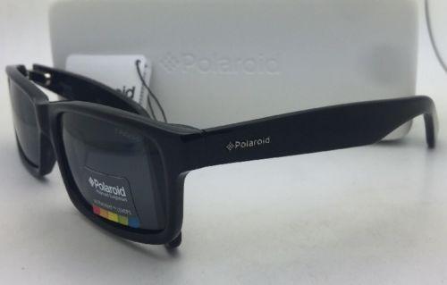 Neuf Polaroid Lunettes de Soleil X8420A Kih 1T 57-17 140 Noir Cadre W / Grises