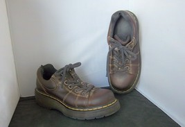 DR. MARTENS - Women's Brown Leather #9806 Chunky Oxford Shoes - SIZE 7 - $28.95