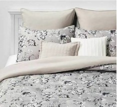 SEALED/ NEW  Queen Leah Floral 8pc Bed Set Neutral  image 1