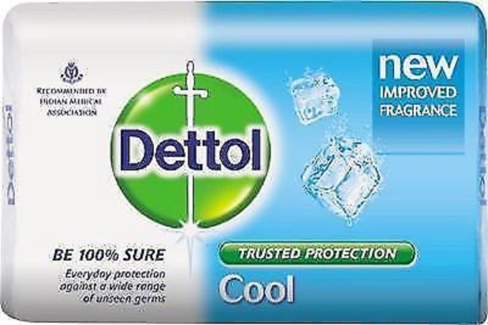 DETTOL COOL SOAP GIVES PROTECTION FROM UNSEEN GERMS 75 GM X 3 pack*