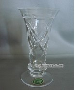 "Vintage Stuart Crystal Hand Cut Small Vase - 5"" High - $16.99"
