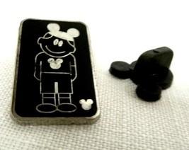 Walt Disney Cartoon Son Mickey Mouse Ears Silver Black Hidden Mickey Pin... - $19.37
