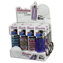 LIGHTER BIC CASE RHINESTONE - ONE ITEM COVER WITH DESIGN AND COLOR MAYBE VARY