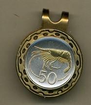 "Iceland 50 aurar ""Shrimp"" 2-Toned Gold on Silver Coin Golf Marker - $64.00"