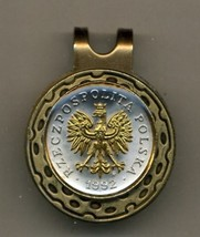 "Polish 5 groszy ""Eagle with Crown""  2-Toned Gold on Silver Coin Golf Ma... - $67.00"