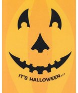 """Greeting Halloween Card """"It's Halloween"""" Let the Fun Be-grin - $1.50"""