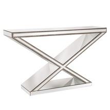 "Howard Elliott ""X"" Frame Mirrored Console Table... - $960.00"