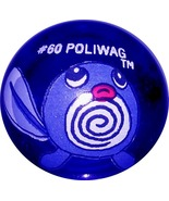 POKEMON MARBLE POLIWAG #60 Colored GLASS MARBLE - $8.98