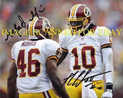 Primary image for ROBERT GRIFFIN AND ALFRED MORRIS AUTOGRAPHED 8x10 RP PHOTO WASHINGTON REDSKINS