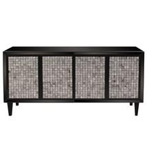 Howard Elliott Glossy Black Cabinet w/ Tile Front #68065 - $1,300.00