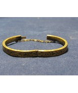 Victorian Hayward Embossed Etched Hinged Bracelet Chain Child Infant Tod... - $74.31