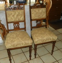 Pair of Mahogany Carved Sidechairs / Entry Chairs - $499.00