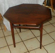 Walnut Octagon Coffee Table / End Table by Mersman  (JLC) - $399.00