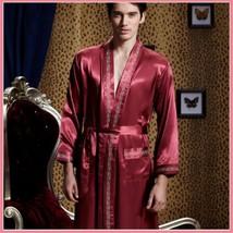 Men's or Ladies Matching Mulberry Silk Long Sleeve Satin Robe Pajama Sets   image 3
