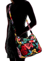 Vera Bradley Carryall Crossbody Bag, Signature Cotton, Havana Rose