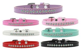 AB Crystal Dog Collar * Aurora Borealis Jewels * 7 Colors * Puppy Pet Wear - €8,65 EUR+