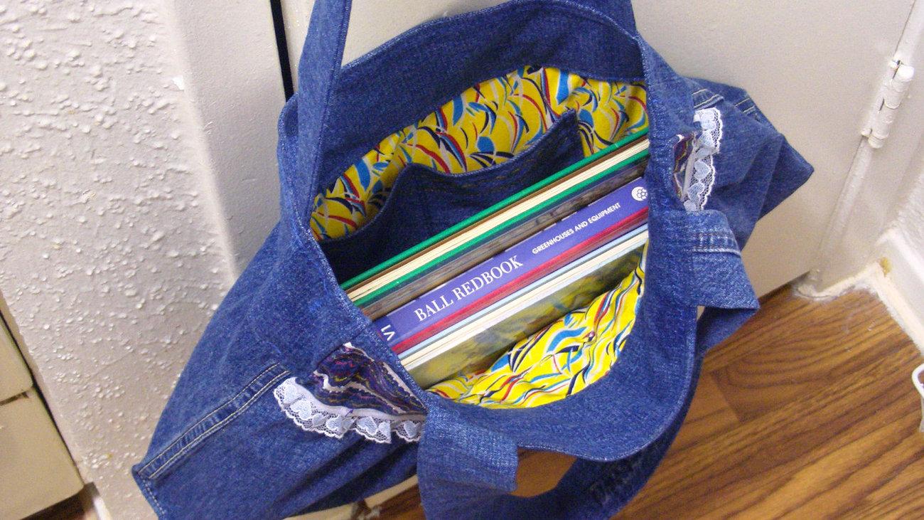Handmade Jeans Denim Summer Tote Diaper Books Everyday Picnik  Gateway Bag Free