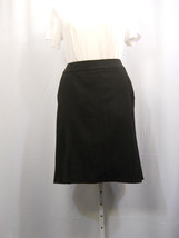 NY Collection Black Lined Flared Back Skirt Plu... - $16.57