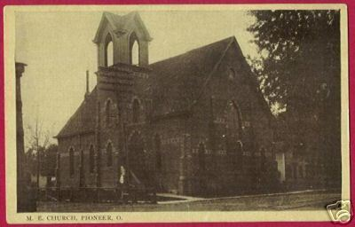 Primary image for PIONEER OHIO M E Church OH Postcard