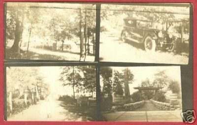 CLARE MI Multi view RPPC Car Auto Michigan 1920 BJs