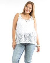 Sheer Top Size 1X 2X 3X Ambiance Apparel White ... - £14.62 GBP