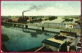 AURORA ILLINOIS River Bridge North Bull Durham IL 1910 - $12.50