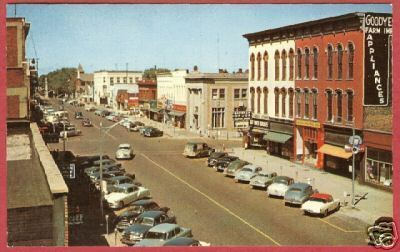 Primary image for Hastings MI State St Cars Signs Michigan Postcard BJs