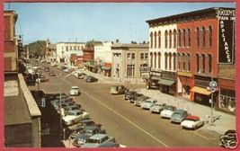 Hastings MI State St Cars Signs Michigan Postcard BJs - $5.50